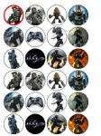 24 HALO Edible Wafer Rice Cup Cake Toppers